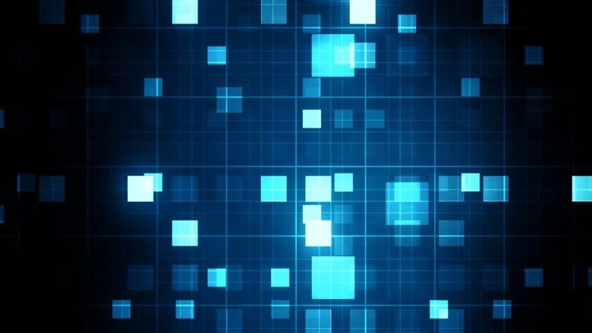 Equalizer Wallpaper Hd Beaming Blue Squares Musical Loopable Background Stock