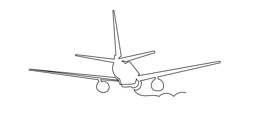 Simple Animation of Continuous Line Stock Footage Video