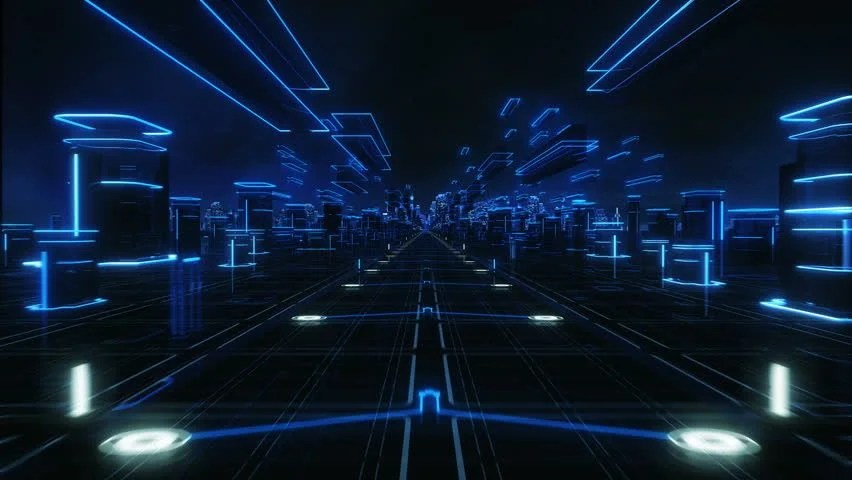 Best 3d Hologram Wallpaper Futuristic Abstract Background Cyan Loopable Technology