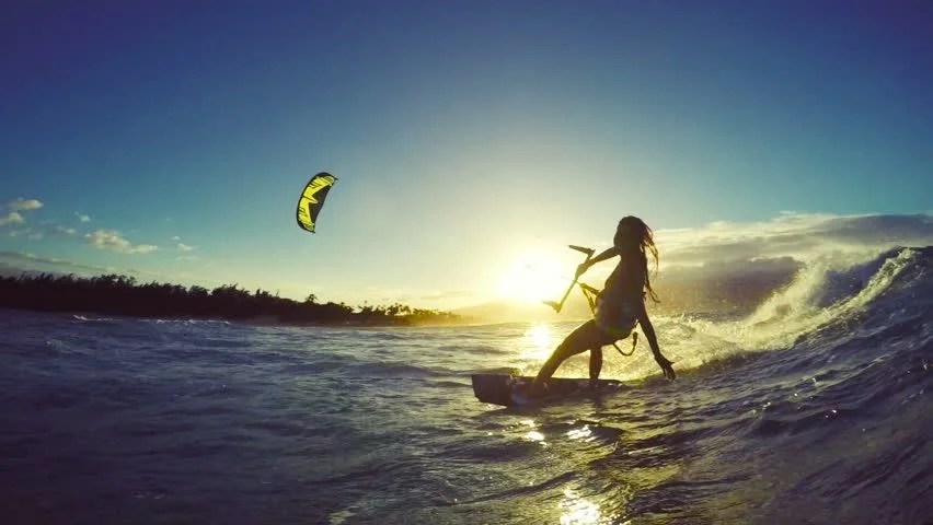 Summer Girls Wallpaper Desktop Extreme Kitesurfing At Sunset Summer Stock Footage Video