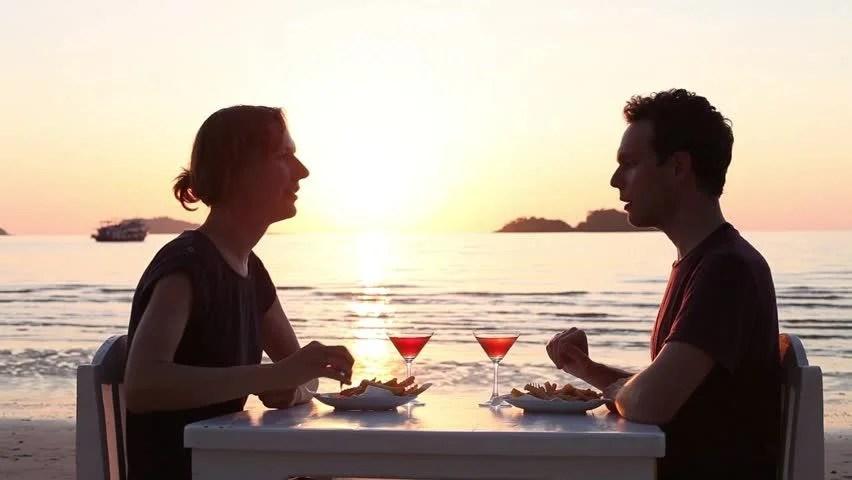 Beautiful Romantic Dinner On The Beach In Luxury