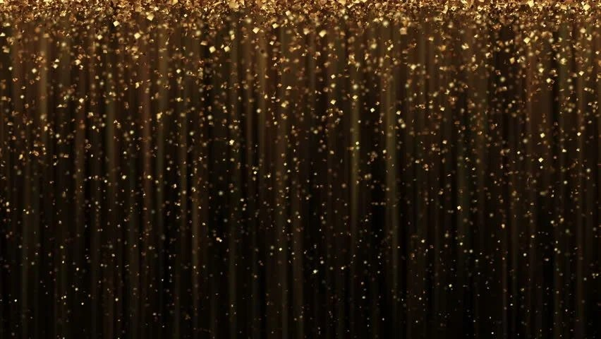 Animated Fall Wallpaper Abstract Background With Golden Glitter Stock Footage