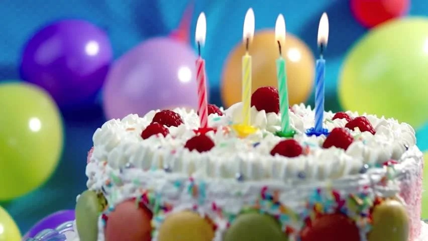 Candles On The Birthday Cake Stock Footage Video 100 Royalty