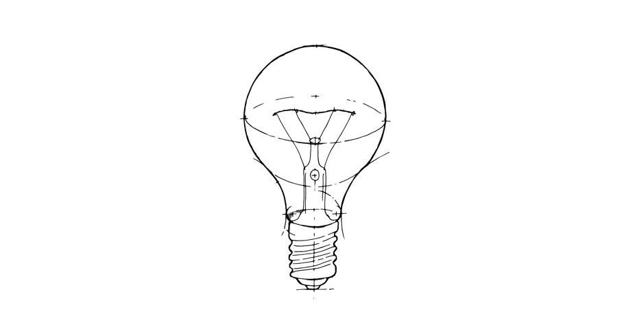 Lamp. Idea Concept. Whiteboard Animation Stock Footage