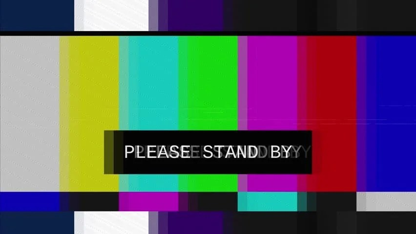 Bad TV  Loop  1  Static Noise On HDTV Test Color Bars