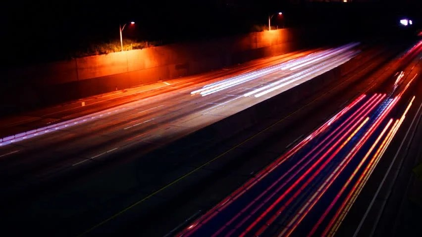 Red Light Car Wallpaper Streaks Of Light On The Highway Image Free Stock Photo