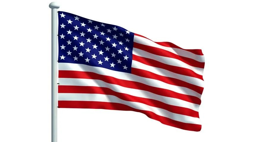 United States Flag + Mask Stock Footage Video 59083