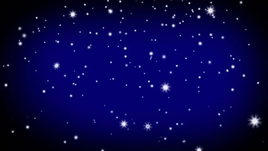 Stars In The Sky Looped Animation Beautiful Night With