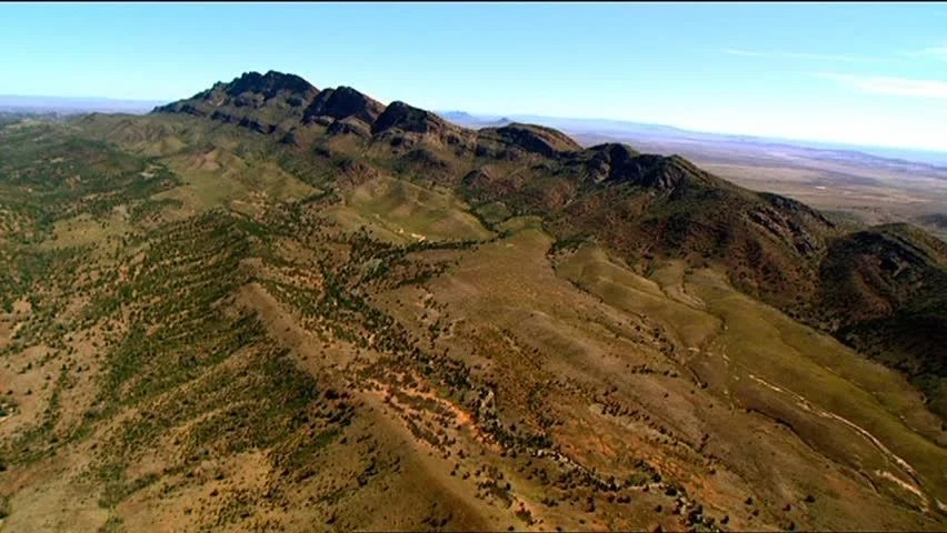 Aerial Footage Of Rugged Out Back Australia Mountain