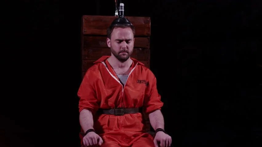 death by electric chair video dining room table and chairs with bench capital punishment stock footage 100 male prisoner sitting in awaiting sentence