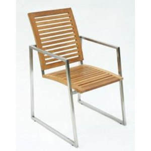 66 JRSR-Simple Armchair with Teak wood