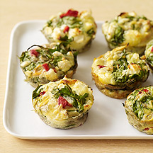 Feta and Vegetable Frittatas