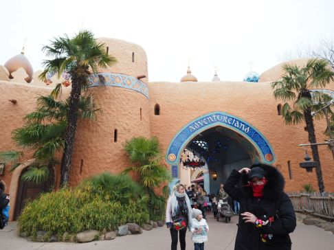Going to Aladdin castle