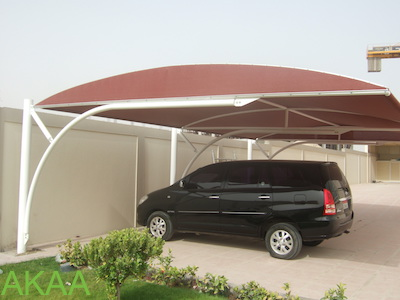 Bottom Support Car Parking Shade in UAE