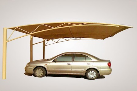 Top support car parking Shades in UAE