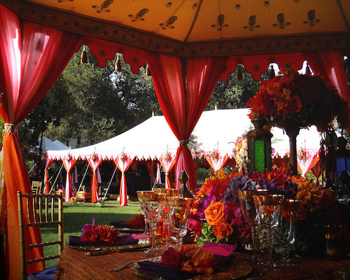 traditional outdoor wedding tent rentals
