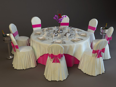 wedding chairs and tables