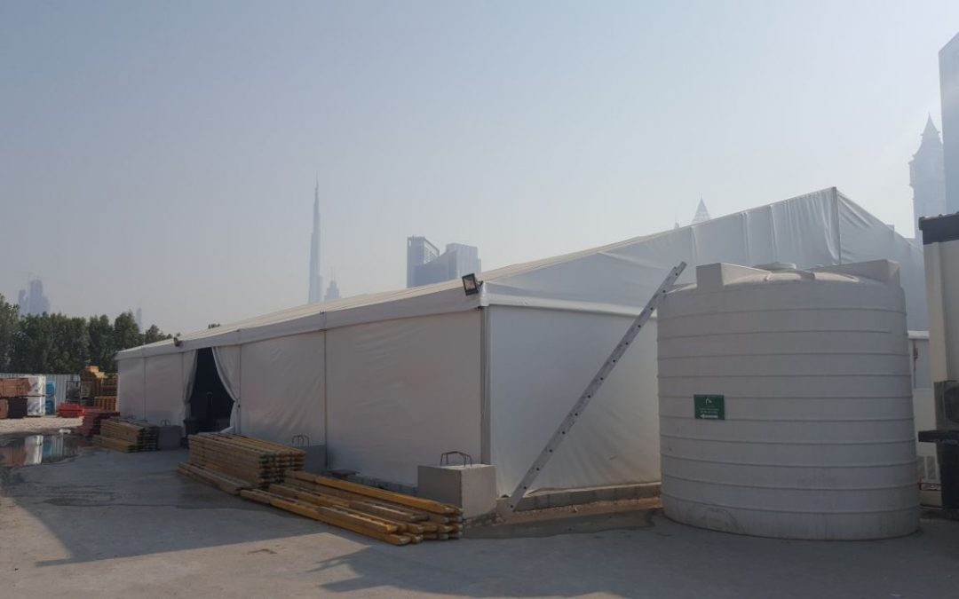 Tent Installation in Dubai for McLaren Construction Group