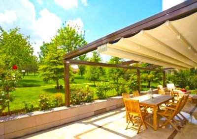 open roof pergola shade