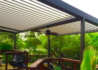 Patio louver shade