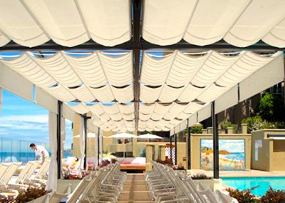 retractable roof pergola pool shade