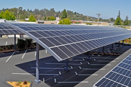 solar car parking shades manufacturers in UAE Dubai