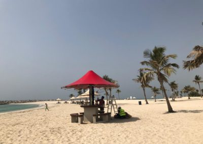 Umbrella Shades at Mamzar Beach Dubai