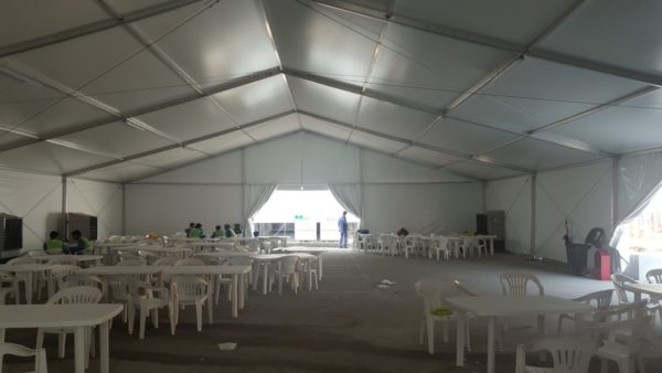 Labour tent installation for mclaren group