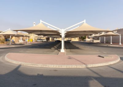 Car Parking Shade Installation in Al Ruwais