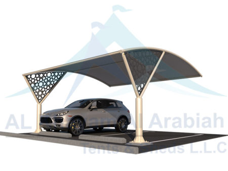 cnc pattern car parking shade