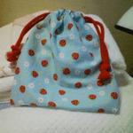 娘の給食袋を作ったわ。