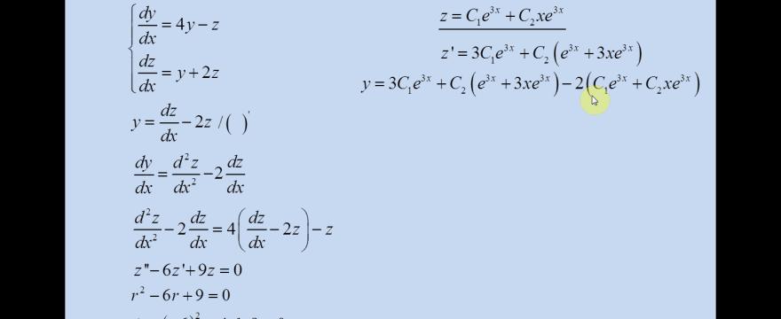 Lekcja 6 – Układy dwóch równań różniczkowych rzędu pierwszego