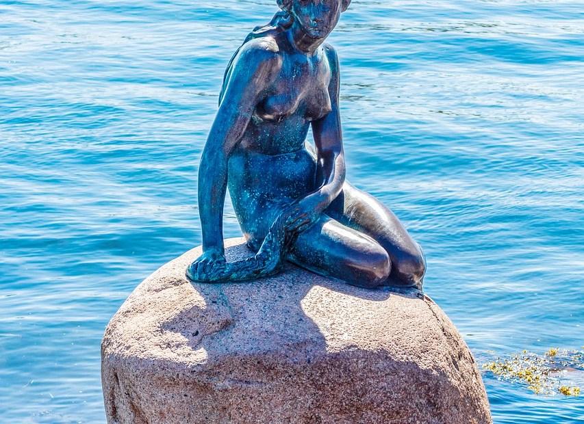 copenhagen, denmark, mermaid