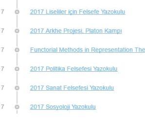 Nesin Matematik Köyü Yaz Okulları 2017