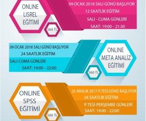 ONLINE LISREL & META ANALİZ & SPSS EĞİTİM PROGRAMLARI