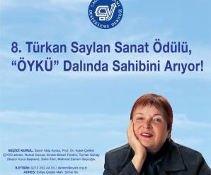 """8. Türkan Saylan Sanat Ödülü """"ÖYKÜ"""" Dalında Sahibini Arıyor"""