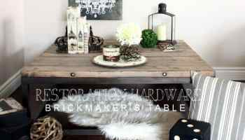 RH Inspired Brickmakers Table