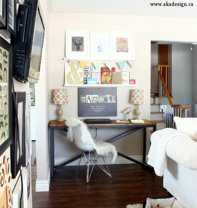 Desk In Living Room Decor