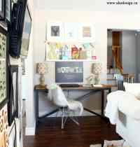 office desk in living room 2017 - Grasscloth Wallpaper
