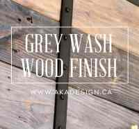 Grey Wash Wood Finish - How to Get the Grey Distressed ...