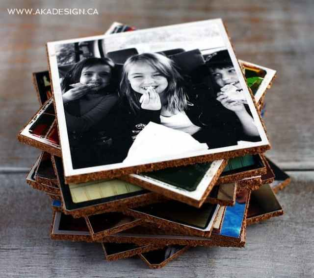 SHOW OFF YOUR PHOTOS WITH DIY COASTERS Show Off Your Photos  with DIY Photo Coasters