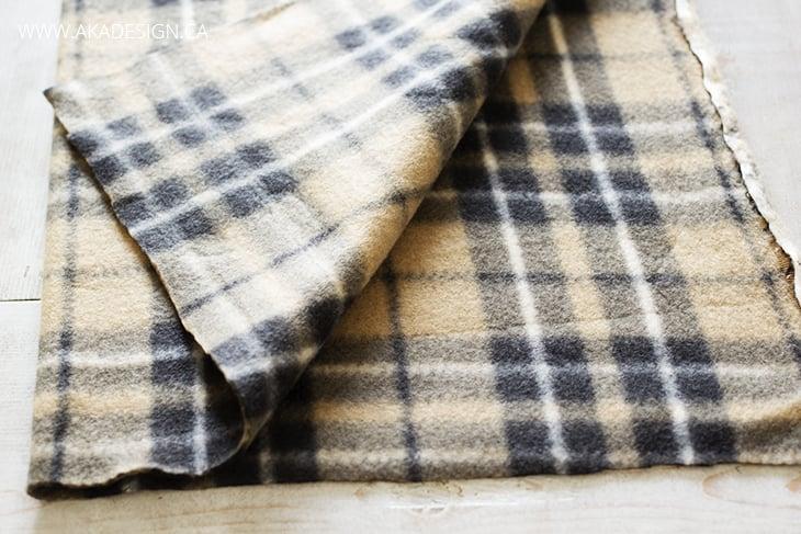 folded fleece for infinity scarf