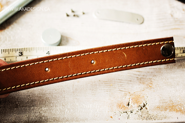 holes punch in leather