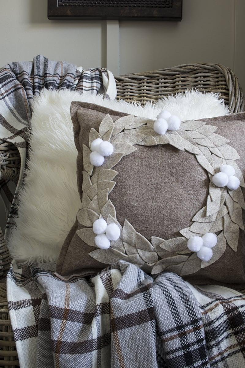 AKA Design Felt Wreath Pillow 2 BLOG PIC