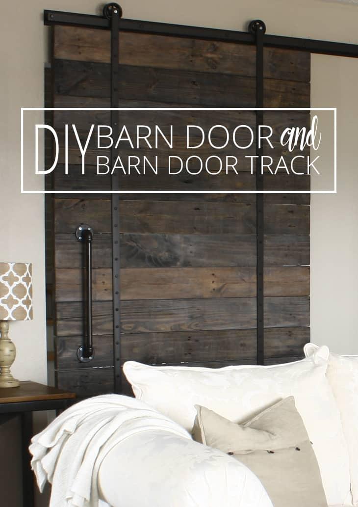 DIY Barn Door And DIY Barn Door Track That Wonu0027t Break The Bank!