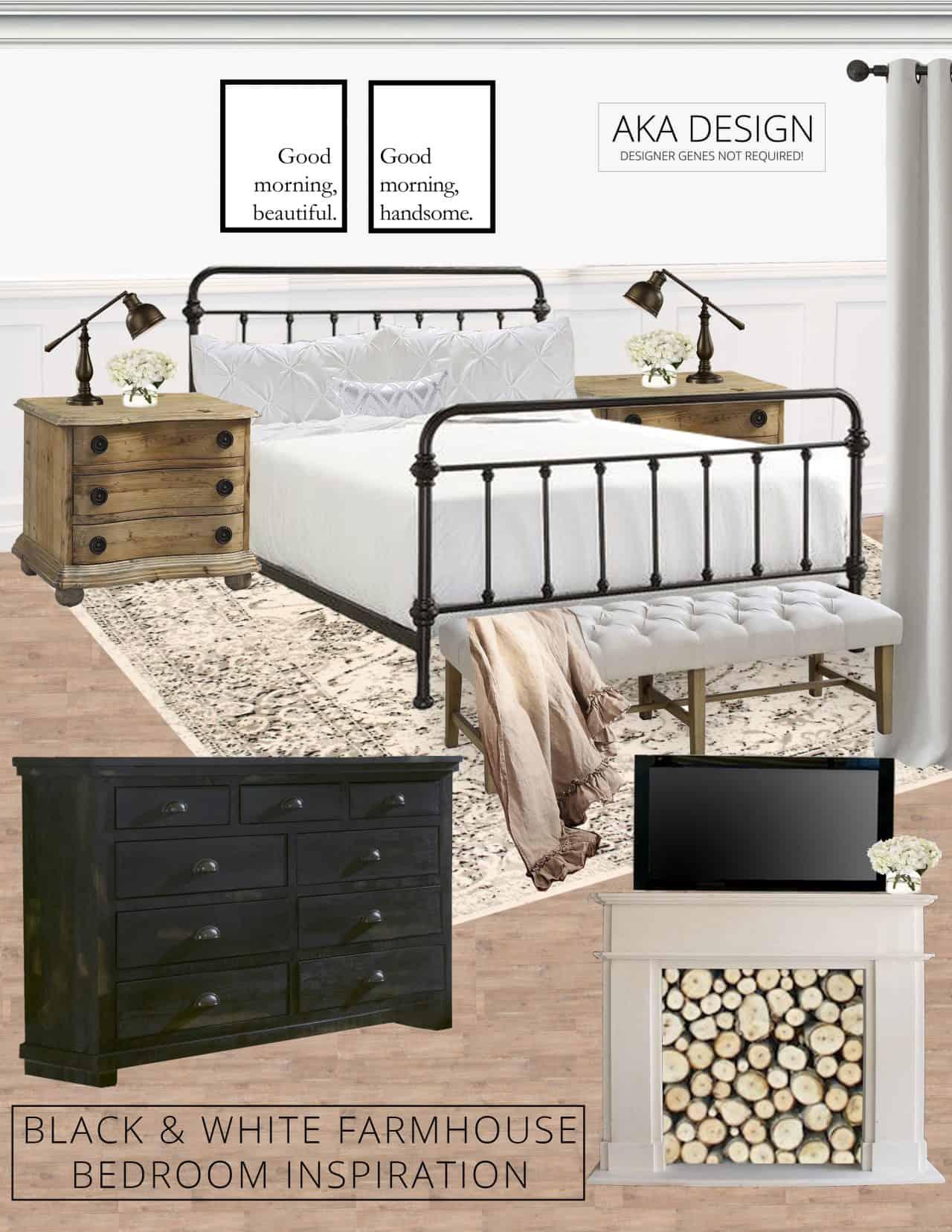 Good Black and White Farmhouse Bedroom Inspiration