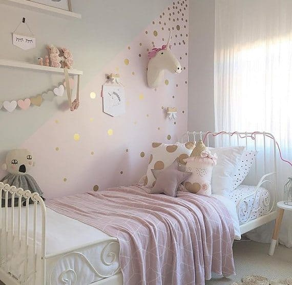 gold and pink girls bedroom ideas Pink and Gold Girl's Bedroom Makeover | Before Photos