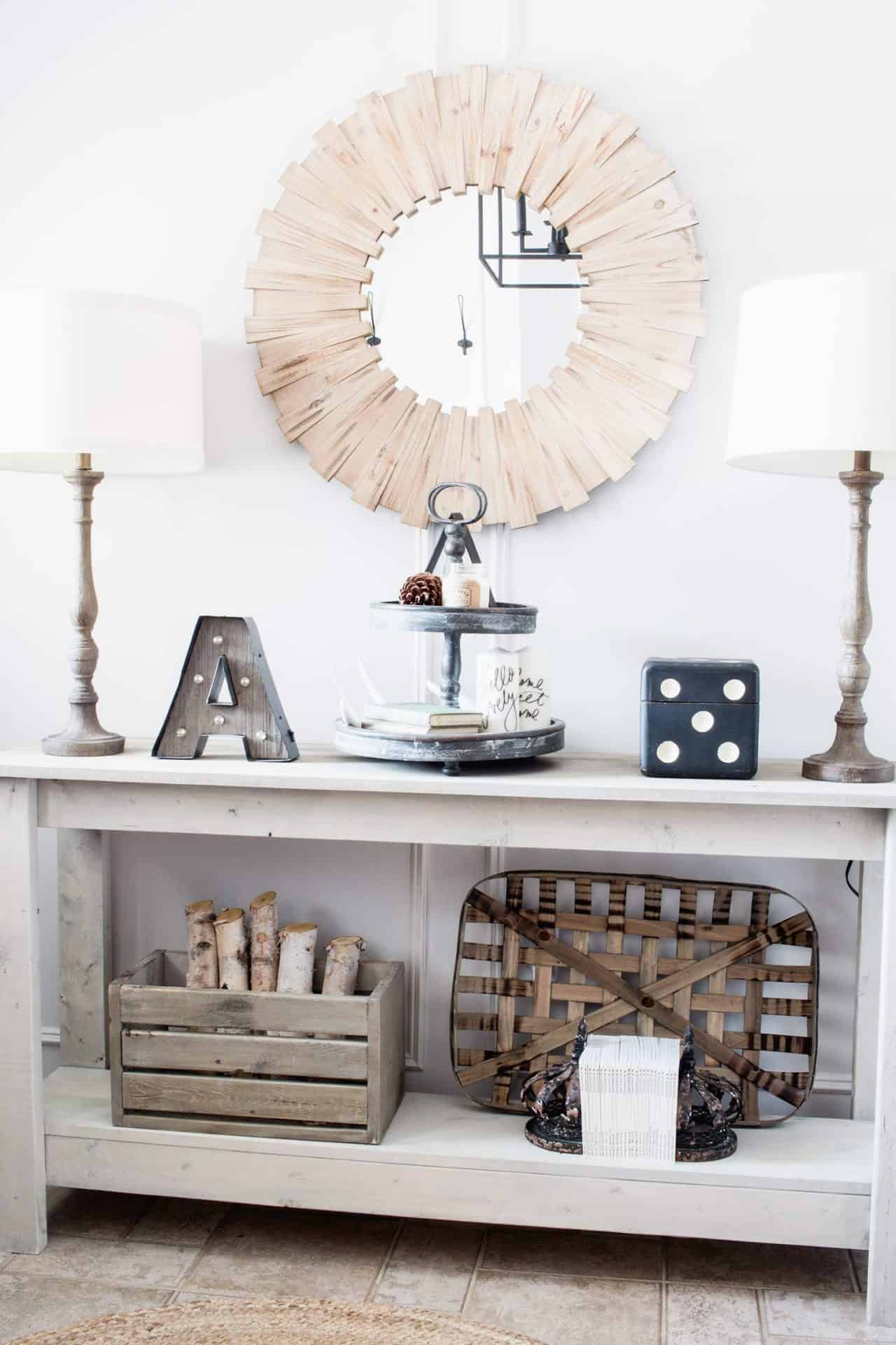 Our Farmhouse Style Entry And Dining Room With Refined