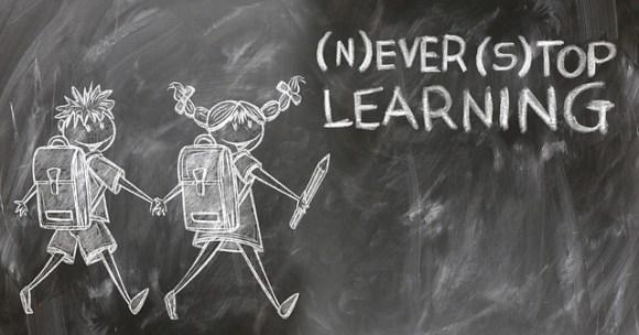 Ne jamais cesser d'apprendre -> Toujours au top de l'apprentissage