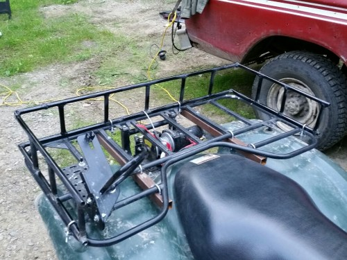 small resolution of on this one a polaris the front dry box while a little small is provided built into the fenders rack